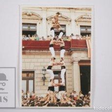 Postales: POSTAL CASTELLERS - XIQUETS DE REUS. LA COLLA CASTELLERA DEL BAIX CAMP - DOS DE SET. Lote 164522822