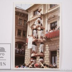 Postales: POSTAL CASTELLERS - XIQUETS DE REUS. LA COLLA CASTELLERA DEL BAIX CAMP - QUATRE DE SET. Lote 164523298