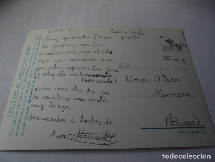 Postales: magnifica antigua postal de san guim de freixanet,de los años 70 - Foto 2 - 164707874