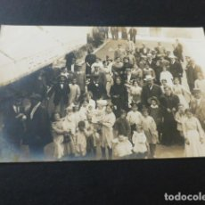 Postales: SAN HILARIO SACALM GERONA GRUPO EN EL HOTEL SUIZO POSTAL FOTOGRAFICA HACIA 1910. Lote 165169646