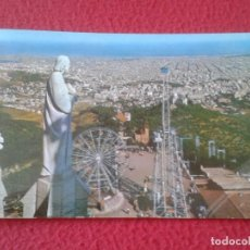 Postales: POSTAL POST CARD BARCELONA VISTA GENERAL DESDE EL TIBIDABO PARQUE DE ATRACCIONES...NORIA...VER FOTO. Lote 165224178