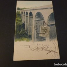 Postales: TARRASA BARCELONA PUENTE PASEO REVERSO SIN DIVIDIR. Lote 165391646