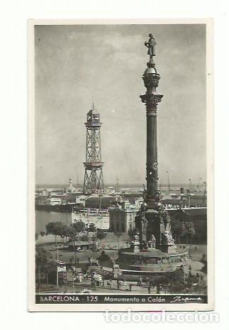 BARCELONA, MONUMENTO A COLÓN (Postales - España - Cataluña Antigua (hasta 1939))