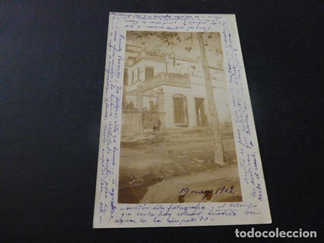 BLANES GERONA POSTAL FOTOGRAFICA 1902 (Postales - España - Cataluña Antigua (hasta 1939))