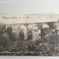 Postales: POSTAL FOTOGRÁFICA DE SAN PERE DE RIUDEVITLLAS PONT NOU, BARCELONA 1912.. Lote 165494038