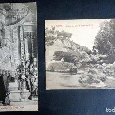 Cartoline: LOTE DE 2 POSTALES ANTIGUAS DE PIERA, VER FOTOS. Lote 165497074