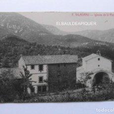 Postales: 7 VILADRAU IGLESIA DE LA PIETAT. FOTO L. REISIN. CIRCULADA. CCTT. Lote 165499054