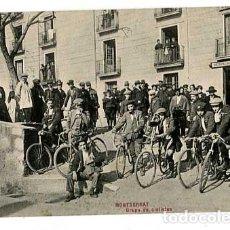 Postales: BARCELONA MONTSERRAT GRUPO DE CICLISTAS ED. L. ROCA SERIE 3ª Nº 27. SIN CIRCULAR. Lote 165512850