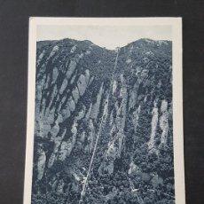 Postales: MONTSERRAT BARCELONA VISTA GENERAL DEL FUNICULAR DE SAN JUAN. Lote 165639166