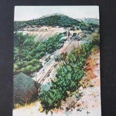 Postales: BARCELONA FERROCARRIL FUNICULAR DEL TIBIDABO VISTA GENERAL DE LA LINEA. Lote 165639778