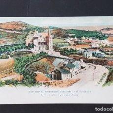 Postales: BARCELONA FERROCARRIL FUNICULAR DEL TIBIDABO ESTACION INFERIOR Y PALACIO ARNUS. Lote 165639834