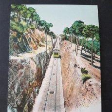 Postales: BARCELONA FERROCARRIL FUNICULAR DEL TIBIDABO VISTA PARCIAL DE LA LINEA. Lote 165640130