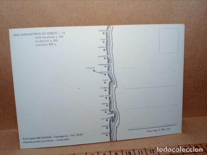 Postales: 3 POSTALES CATALUÑA (TARRAGONA) MONASTERIO DE POBLET (SIN CIRCULAR) (AÑOS 60) REF: 270/280 - Foto 2 - 165699158