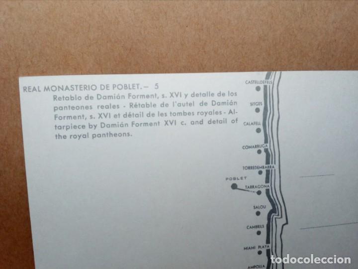 Postales: 3 POSTALES CATALUÑA (TARRAGONA) MONASTERIO DE POBLET (SIN CIRCULAR) (AÑOS 60) REF: 270/280 - Foto 6 - 165699158