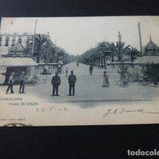 Postales: BARCELONA PASEO DE COLON SELLO EN TINTA SOCIEDAD ATLAS Y I D A P S V . Lote 165790554