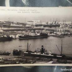 Postales: ANTIGUA POSTAL BARCELONA DETALLE DEL PUERTO CON ESTACIÓN MARÍTIMA 1060. Lote 165839474