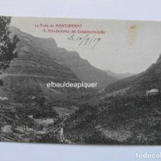 Postales: LA PUDA DE MONTSERRAT. 9 ALREDEDORES DEL ESTABLECIMIENTO. ANGEL TOLDRA VIAZO. CCTT. Lote 165853030