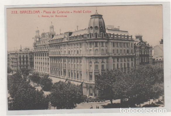 222 BARCELONA PLAZA DE CATALUÑA HOTEL COLON L. ROISIN. SIN CIRCULAR. (Postales - España - Cataluña Antigua (hasta 1939))