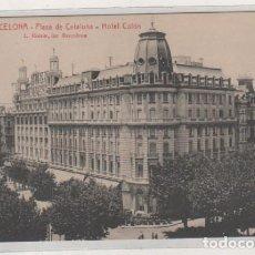 Postales: 222 BARCELONA PLAZA DE CATALUÑA HOTEL COLON L. ROISIN. SIN CIRCULAR. . Lote 166099742
