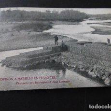 Postales: GERONA GIRONA ESPIGON A MARTILLO EN EL RIO TER OBRA INGENIERIA INGENIEROS BIANCHINI BARCELONA. Lote 166101570