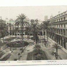Postales: BARCELONA, PLAZA MACIA, PLAZA REAL. Lote 166159074