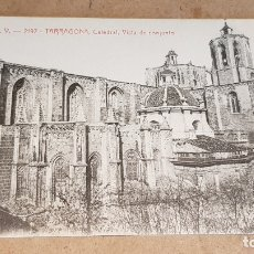 Postales: A.T.V. - 2197 / TARRAGONA / CATEDRAL - VISTA DE CONJUNTO / SIN CIRCULAR NI ESCRIBIR. / DE LUJO. Lote 166386558