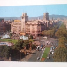 Postales: BARCELONA: PLAZA DE CATALUÑA Y PASEO DE GRACIA.CIRCULADA.1978.. Lote 166504324