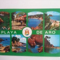 Postales: PLAYA DEL ARO.COSTA BRAVA.SERIE 7.. Lote 166508777