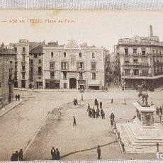 Postales: A.T.V. - 438 BIS / REUS / PLAZA DE PRIM / SIN CIRCULAR NI ESCRIBIR / LIGERA MANCHA FRONTAL. Lote 166550414