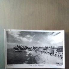 Postales: POSTAL SITGES PLAYA DE SAN SEBASTIAN. Lote 166566194