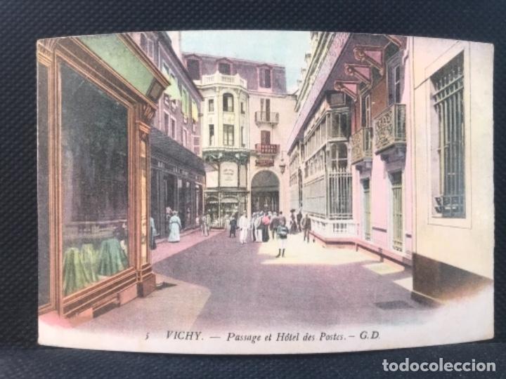 POSTAL VICHY PASSAGE ET HOTEL DES POSTES COLOREADA FRANCIA GUSTAVE DUPUY (Postales - España - Cataluña Antigua (hasta 1939))
