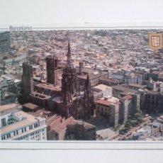 Postales: BARCELONA: VISTA AREA Y CATEDRAL.. Lote 166798634