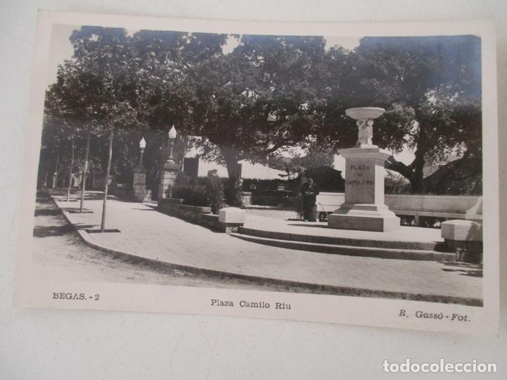 POSTAL BEGAS - PLAZA CAMILO RIU - FOTO R. GASSÓ - POSTAL Nº 2 - SIN CIRCULAR (Postales - España - Cataluña Antigua (hasta 1939))