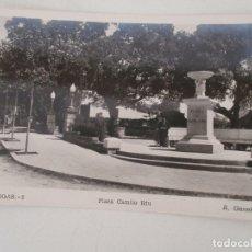 Postales: POSTAL BEGAS - PLAZA CAMILO RIU - FOTO R. GASSÓ - POSTAL Nº 2 - SIN CIRCULAR. Lote 166799098