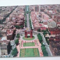 Postales: BARCELONA: ARCO DEL TRIUNFO. VISTA AEREA.1978. Lote 166802216