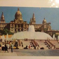 Postales: BARCELONA:PALACIO NACIONAL Y FUENTE MONUMENTAL.CIRCULADA. Lote 166850272