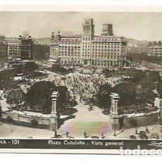 Postales: BARCELONA, PLAZA CATALUÑA. Lote 166877496