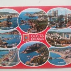 Postales: Nº GE 4046 - COSTA BRAVA - LLORET DE MAR - TOSSA - PALAMOS - FORNELLS - WERTICROM - CIRCULADA. Lote 166903806