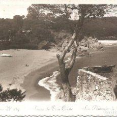 Postales: SAN ANTONIO DE CALONGE - PLAYA DE CAN CRISTO - FOTODOCUMENTAL - CIRCULADA 1956. Lote 167436236