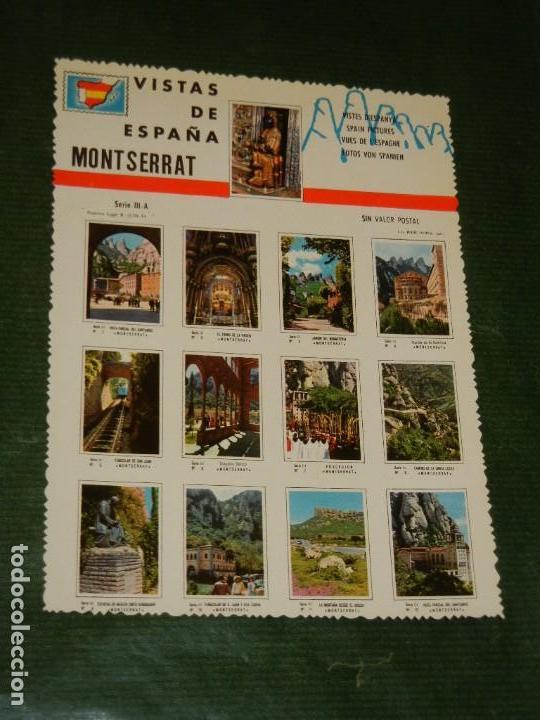 POSTAL - VISTAS DE ESPAÑA - MONTSERRAT - NO CIRCULADA (Postales - España - Cataluña Moderna (desde 1940))