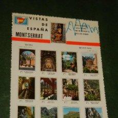 Postales: POSTAL - VISTAS DE ESPAÑA - MONTSERRAT - NO CIRCULADA. Lote 167605788