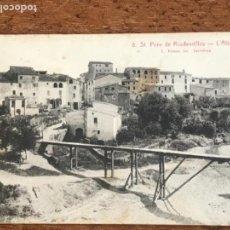 Postales: POSTAL FOTOGRAFICA DE SANT PERE DE RIUDEVITLLES, L´ALTRA BANDA. . Lote 167708696