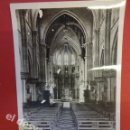 Postales: CASTELLAR DEL VALLES. INTERIOR DE LA IGLESIA PARROQUIAL (ANTES DE SER DESTRUIDA POR LA HORDA). Lote 167799624