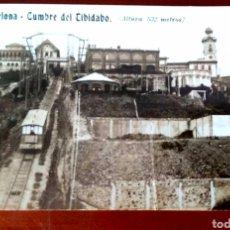 Postales: POSTAL FOTOGRÁFICA BARCELONA CUMBRE DEL TIBIDABO. Lote 168182124