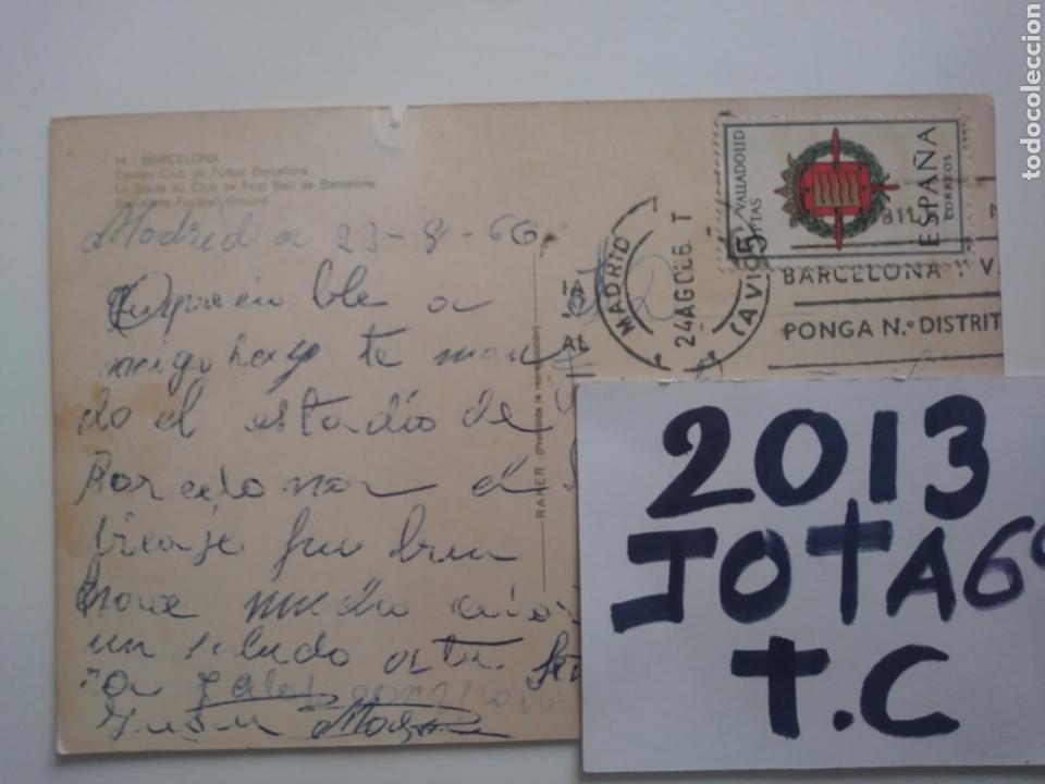 Postales: Barcelona:campo club de futbol.1966.circulada - Foto 2 - 169081478