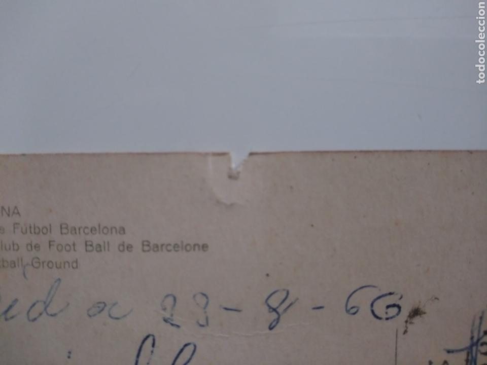 Postales: Barcelona:campo club de futbol.1966.circulada - Foto 3 - 169081478