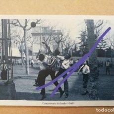 Postales: ANTIGUA POSTAL.COLEGIO INTERNADO NUESTRA SEÑORA DE LA BONANOVA.BARCELONA. CAMPEONATO BASKET-BALL. Lote 169171316