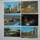 Postales: 6 POSTALES DE BARCELONA AÑOS 60/70. Lote 169183616