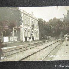 Postales: POSTAL FOTOGRÁFICA BARCELONA. CALDETAS, ESTACIÓN. BARCLEONA. FOTO J. VILÁ. CIRCULADA. AÑO 1911.. Lote 169225072