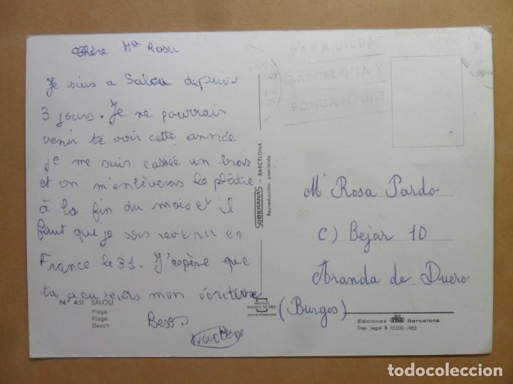 Postales: POSTAL - 451 - SALOU (TARRAGONA) - PLAYA - ED. FISA - ESCUDO DE ORO - Foto 2 - 169292444